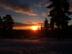 Morgenstemning i Skarsdalen  :Foto.OPN