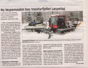 Løypelaget har blitt omtalt i Hallingdølen lørdag 21 mars.
